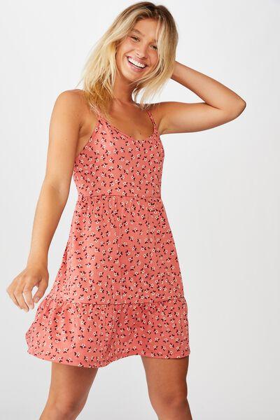 Alessia Strappy Mini Dress, AIDAN DITSY FADED ROSE