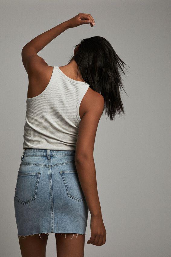 Classic Stretch Denim Mini Skirt, AIREYS BLUE