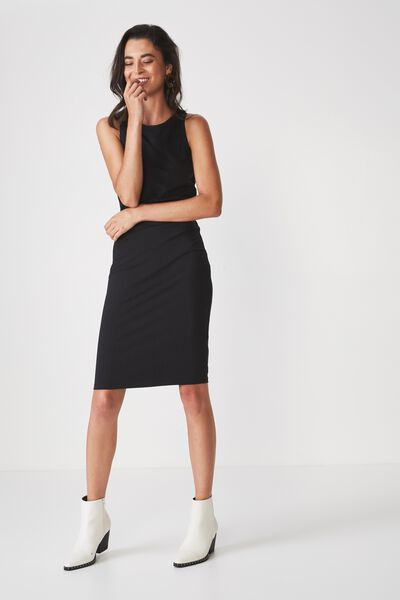 Lena Midi Dress, BLACK