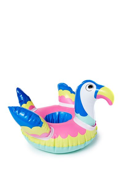 Inflatable Cup Holder, BRIGHT PARROT