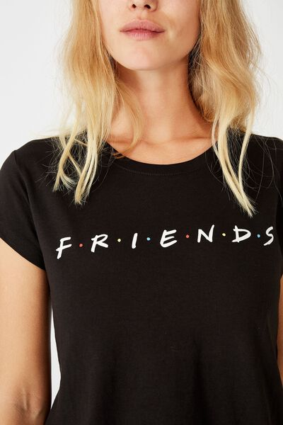 Essential Friends T Shirt, LCN WB FRIENDS LOGO/BLACK