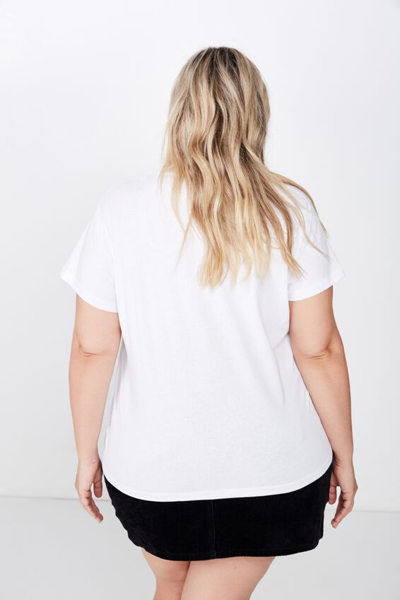 Curve Graphic Tee, SELF MADE WOMAN/WHITE