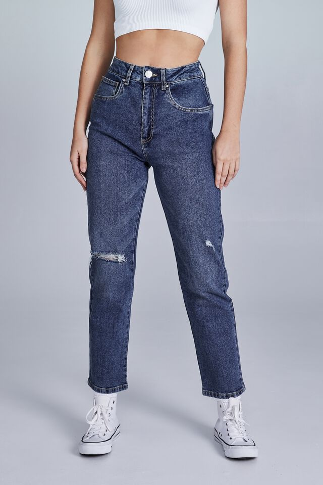 Straight Stretch Jean, SOUTHSIDE BLUE RIPS