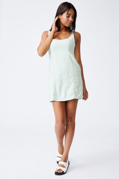 Woven Libby Strappy Mini Dress, SPRING MINT