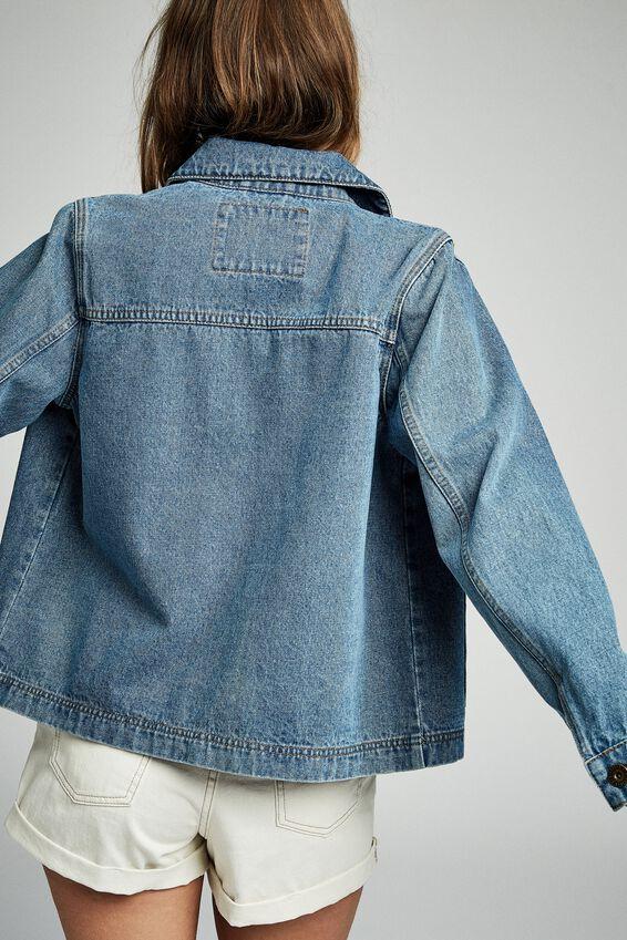 Mara Workwear Jacket, 70S BLUE