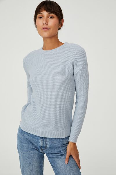 Cotton Pullover, BLUE FROST