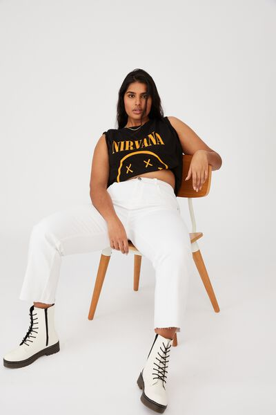 Curve Graphic License Tee, LCN LN NIRVANA CLASSIC LOGO/BLACK
