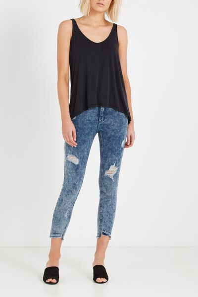 Mid Rise Grazer Skinny Jean, CLOUD BLUE ACID