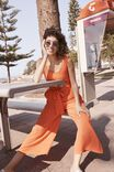 Woven Tara Sleeveless Jumpsuit, MANDARIN RED