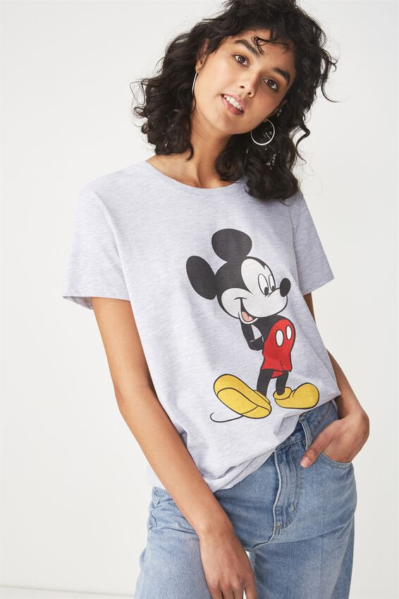 Tbar Fox Graphic T Shirt, LCN MICKEY POSE/SILVER MARLE