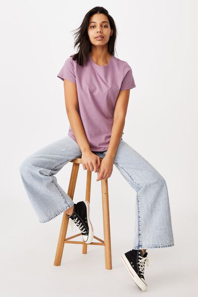 The One Crew Tee, CHALKY LILAC