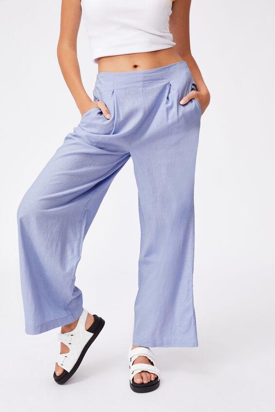 Wide Leg Paradise Pant, POWDER BLUE