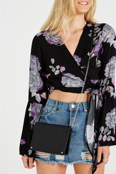 Elise Evening Handbag, BLACK