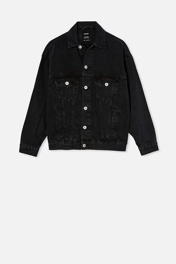 Ultimate Oversized Denim Jacket, MIDNIGHT BLACK