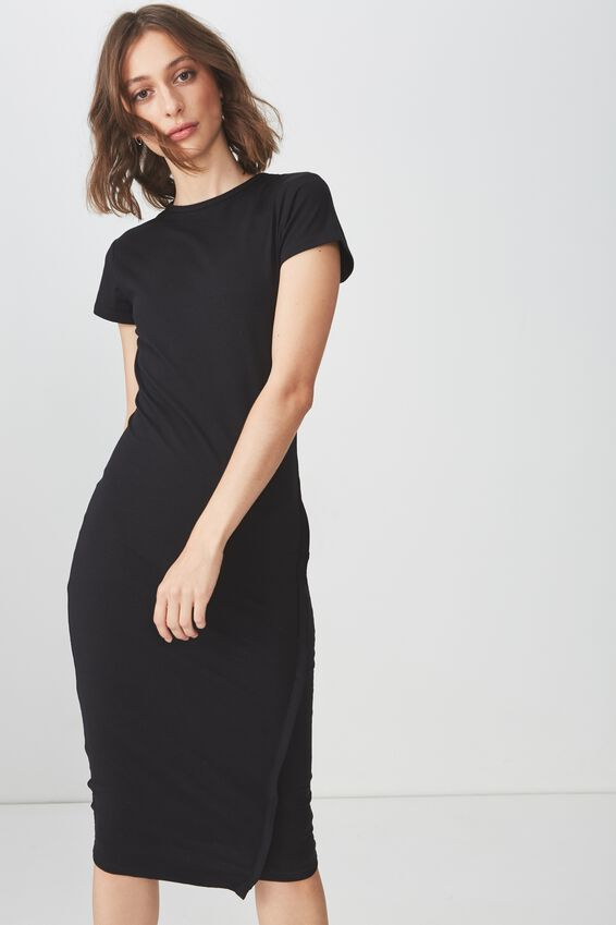 Anthea Short Sleeve Midi Dress,