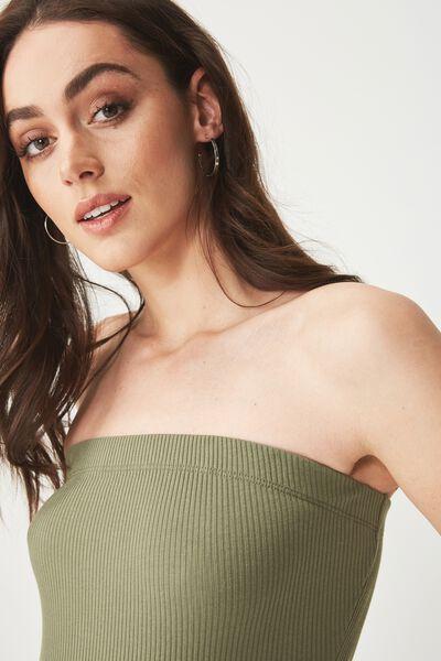 Kylie Strapless Bodysuit, SOFT KHAKI