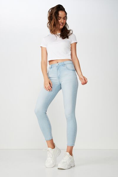 Mid Rise Grazer Skinny Jean, SUMMER LIGHT BLUE
