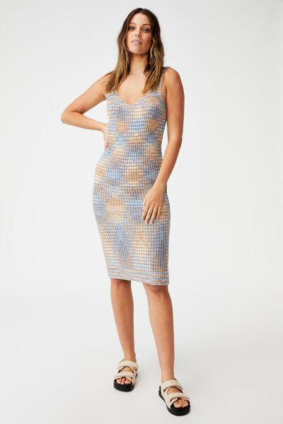 Match Me Midi Dress, BLUE SPACEDYE