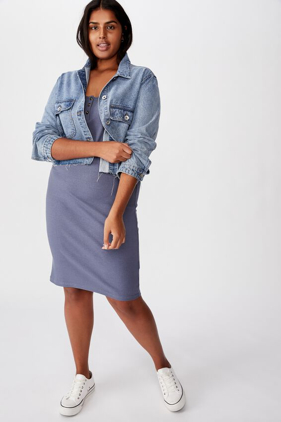 Curve Kaylee Bodycon Midi Dress, GRISAILLE