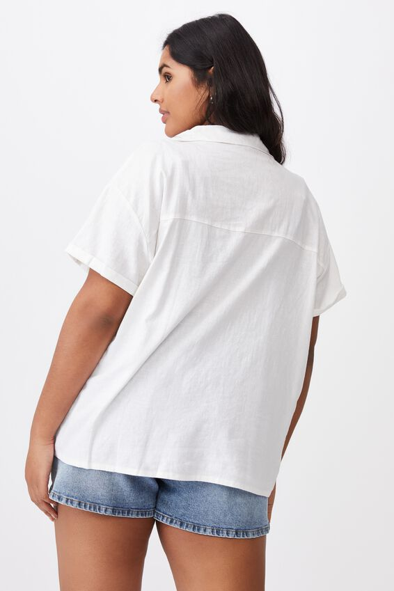 Curve Pool Side Shirt, WHITE