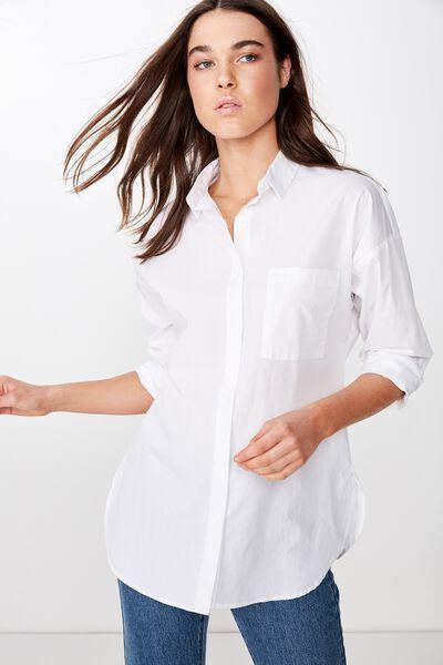 Pippa Oversize Shirt, WHITE