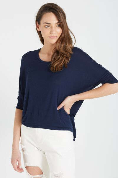 Bianca Long Sleeve Top, MOONLIGHT