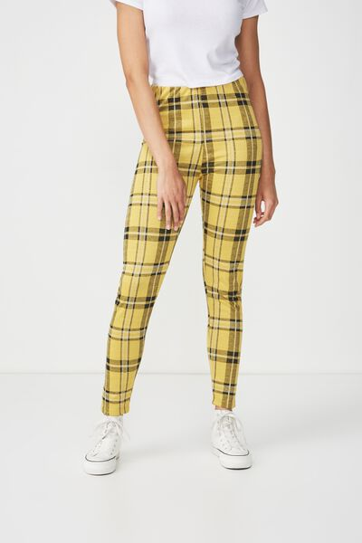 Dantea Legging, YELLOW CHECK