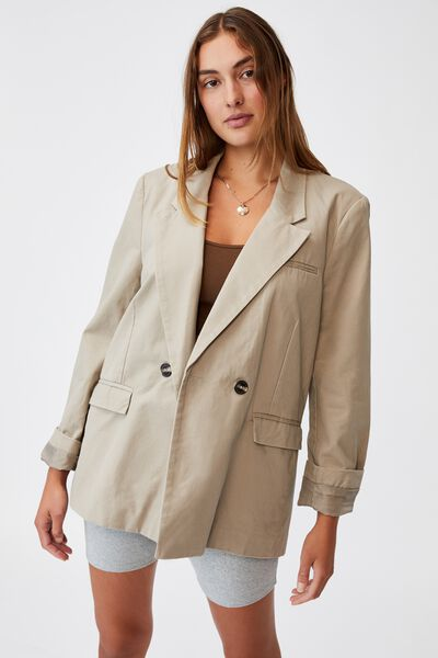 The Oversized Blazer, WASHED TAUPE