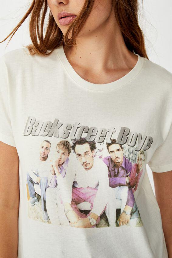 Classic Band T Shirt, LCN GM BACKSTREET BOYS BAND/GARDENIA