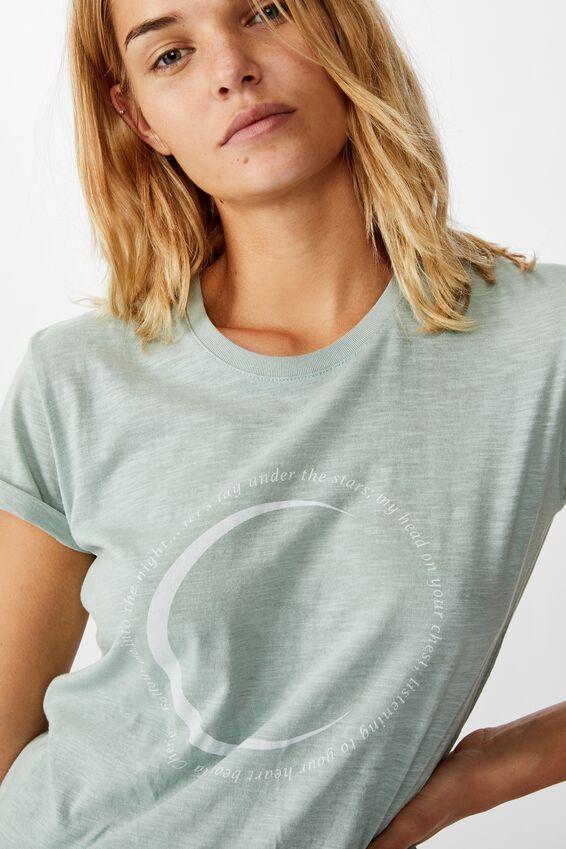 Classic Arts T Shirt, FOLLOW ME/CLOUD BLUE SLUB