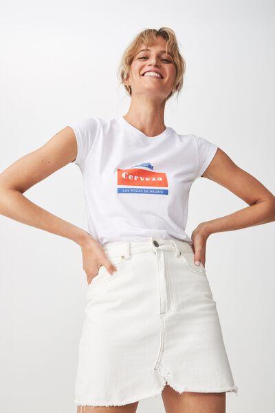 Tbar Rachael Graphic Tee Shirt, CERVEZA/WHITE
