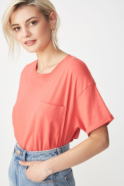 The One Boyfriend Pocket Tee, ROSE PETAL
