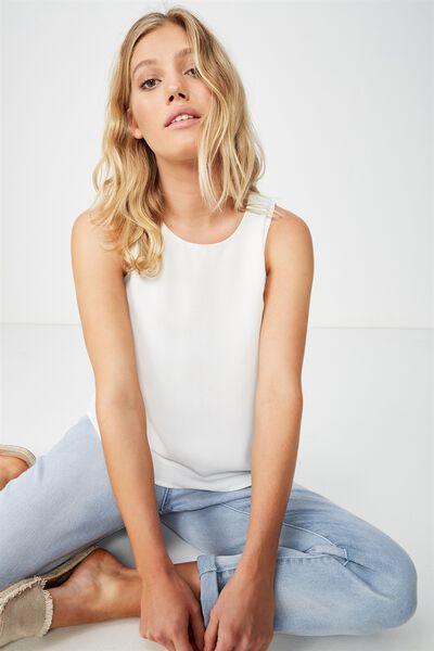 Emma Tank Petite, WHITE