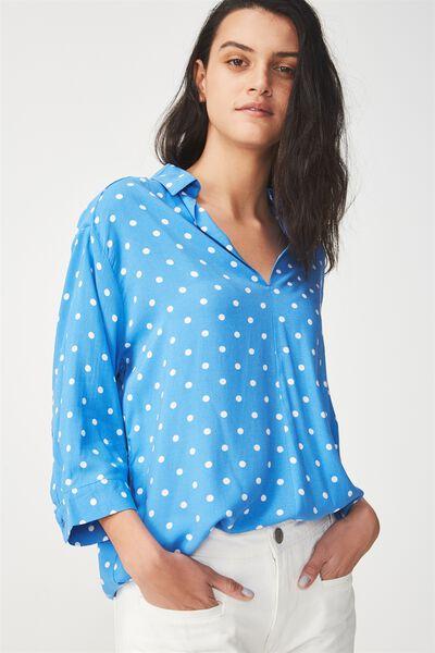 Bex Popover Shirt, LENY SPOT CAMPANULA