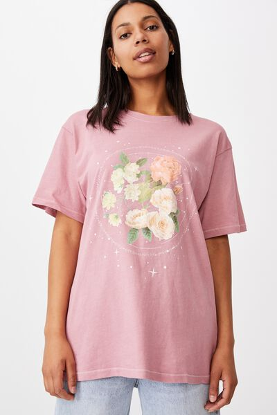 The Dad Graphic Tee, FLORAL SPACE/BLUSH