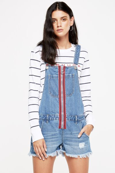 The Classic Overall, MID BLUE SPORTS STRIPE
