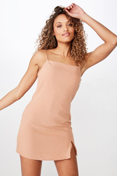 Woven Kylie Strappy Mini Dress, LION