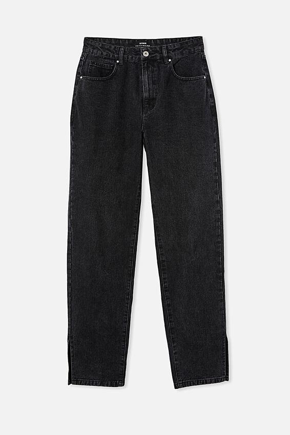Straight Split Jean, MIDNIGHT BLACK