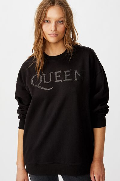 Premium Graphic Fleece, LCN BR QUEEN LOGO/BLACK