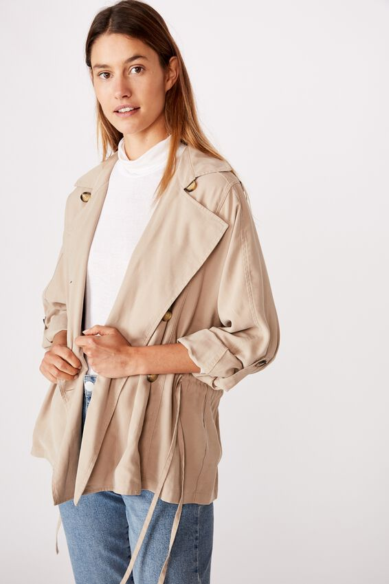 Short Trench, SIMPLY TAUPE