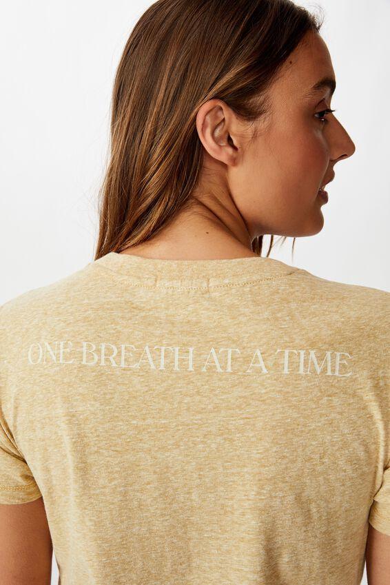 Tbar Cara Graphic Crop T Shirt, TAKE IT ALL IN/PRAIRIE SAND
