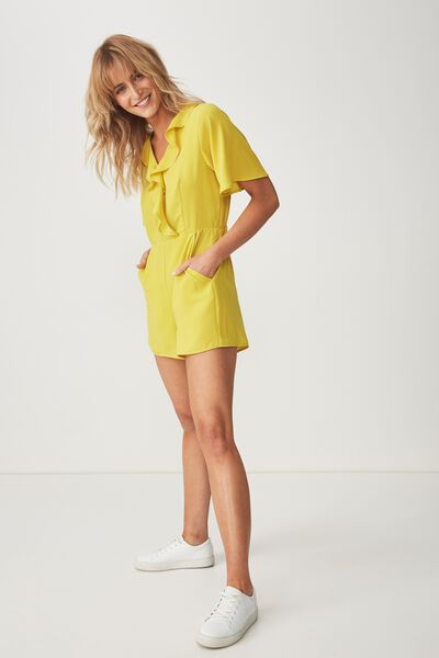 8abe6a32de15 Woven Kennedy Frill Playsuit