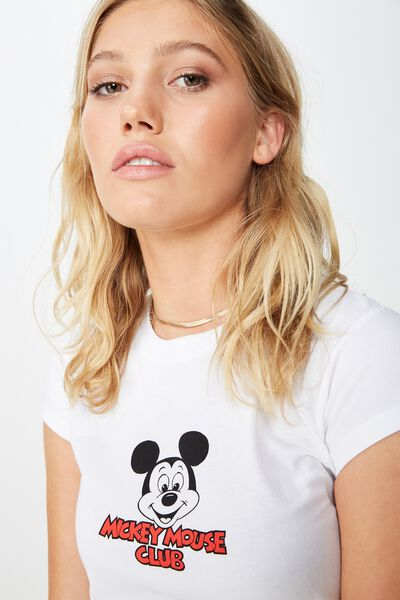 f6e46f14d5 Essential Mickey & Co T Shirt, LCN DIS MICKEY MOUSE CLUB/WHITE