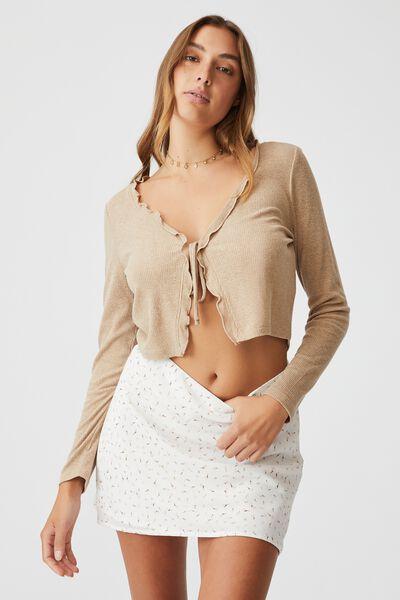 Woven Kaity Slip Mini Skirt, ERIN DITSY WHITE
