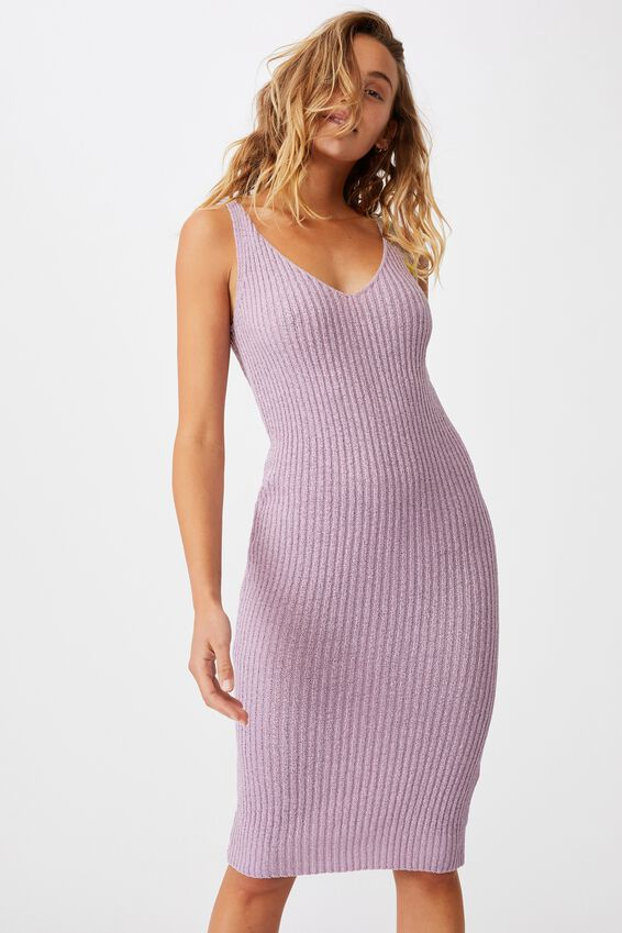 Match Me Midi Dress, FROSTY LILAC