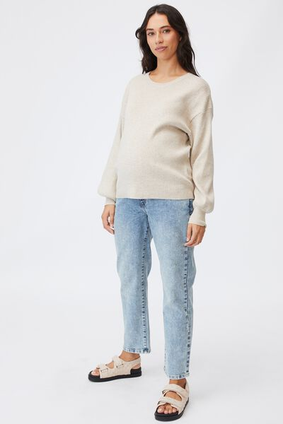 Maternity Friendly Ultimate Pullover, TAUPE MARLE