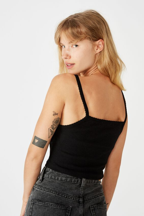 The Johnny Cami, BLACK