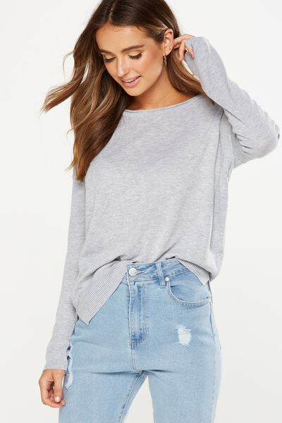 Everyday 2 Fine Gauge Pullover, GREY MARLE