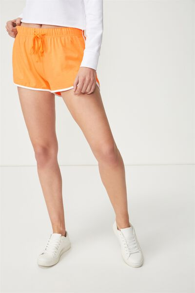 Retro Contrast Bind Short, CITRUS ORANGE