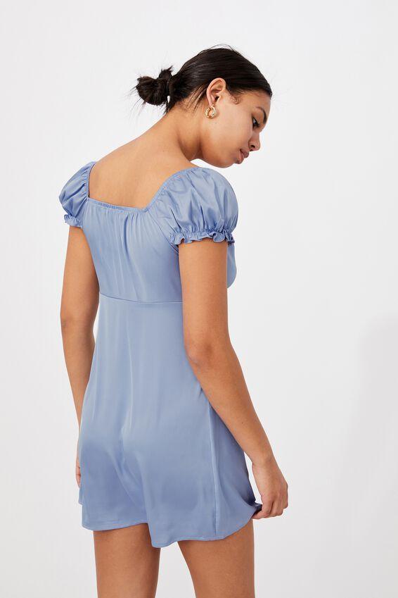 Woven Zuri Milk Maid Dress, VINTAGE BLUE